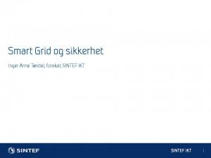 Foredrag om sikkerhet i smartgrid