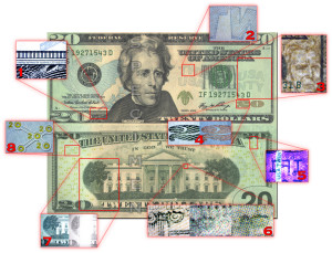 Security Features of the US Twenty Dollar Bill